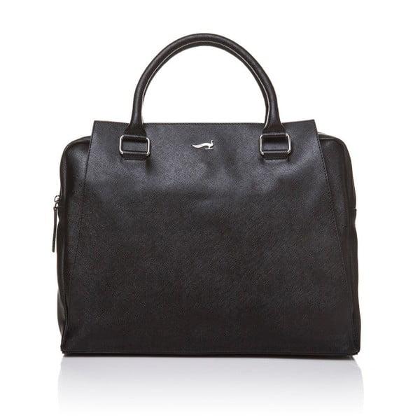 Kožená kabelka do ruky Marta Ponti Sandy, čierna
