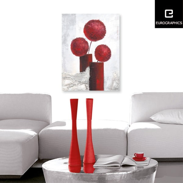 Obraz na plátne Red Pompons 60x80 cm