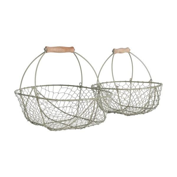 Sada kovových košíkov Wirework, 2 ks