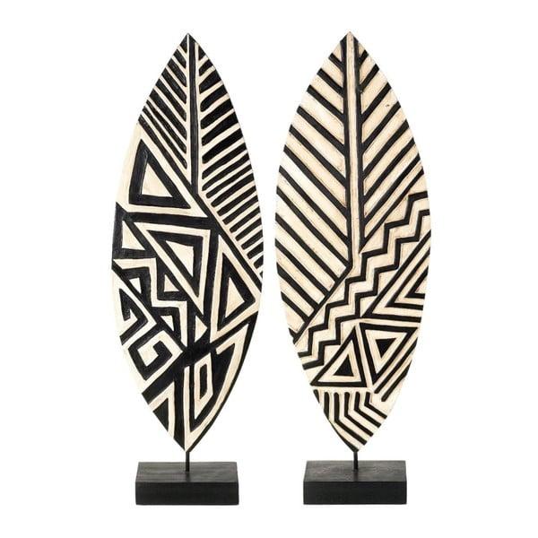 Sada 2 dekorácií Makola Leaf