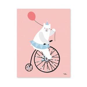 Plagát Michelle Carlslund Cycling Bear, 30x40cm
