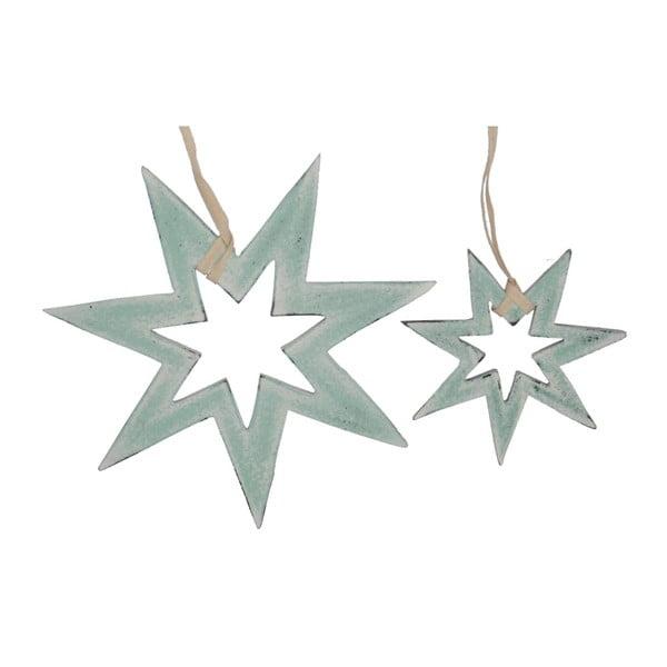 Sada 2 závesných dekorácií Hanging Stars