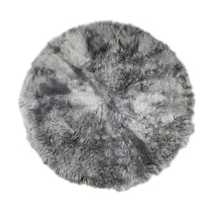 Sivý kožušinový koberec Rundo, ⌀ 150 cm