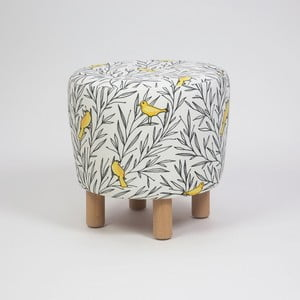 Taburet s drevenými nohami Cono Canaro, ⌀ 41 cm