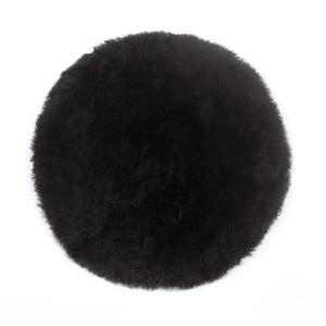 Prestieranie z ovčej kožušiny Black, 35 cm