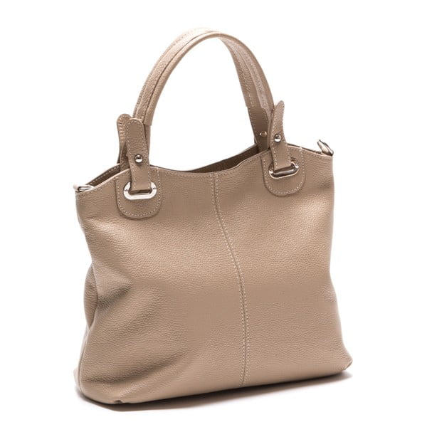 Sivohnedá kožená kabelka Luisa Vannini Nena