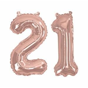 Balónik s číslom 21 Neviti Rose Gold