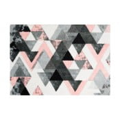 Sivo-ružová rohožka Mint Rugs  StateMat Triangle,50x70cm