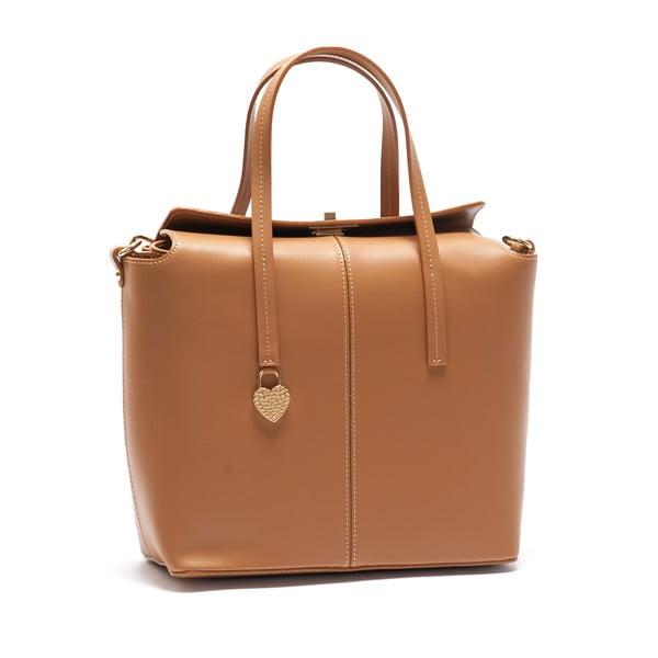 Hnedá kožená kabelka Mangotti Viburnum