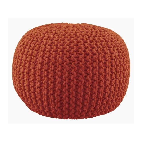 Pletený puf Lob, oranžový