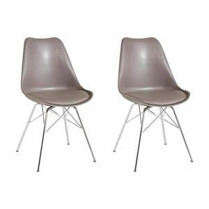 Sada 2 sivobéžových jedálenských  stoličiek Støraa Jenny
