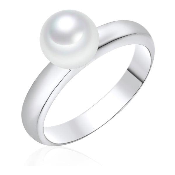 Perlový prsteň Pearls Of London Sea Shell White, veľ. 54