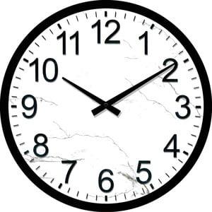 Sklenené hodiny Stanica, 34 cm