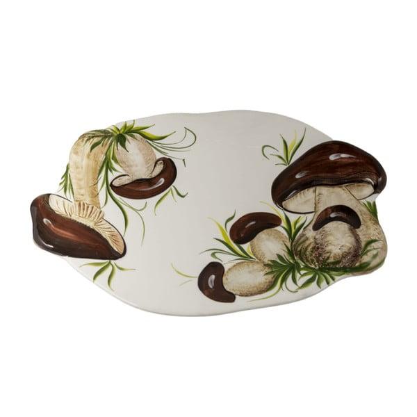 Oválny tanier Mushrooms