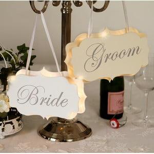 Svadobná dekorácia s LED svetielkami Groom Chair