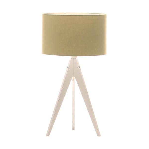 Zelená stolová lampa Artist, biela lakovaná breza, Ø 33 cm