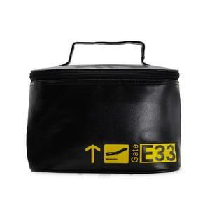 Cestovná kozmetická taška Vanity Black and Yellow
