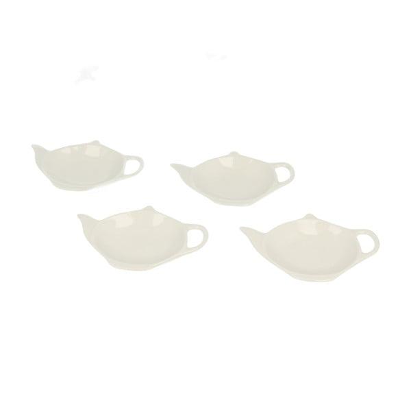 Sada 4 stojančekov na čajové vrecúška Duo Gift Teabag