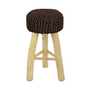 Barová stolička  HF Living Nature s hnedým poťahom