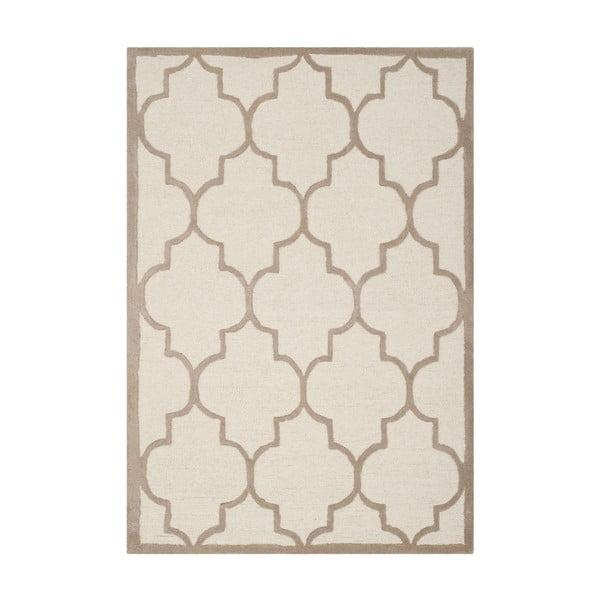 Vlnený koberec Everly 91x152 cm, béžový