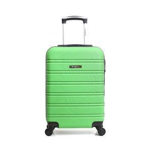 Zelený cestovný kufor na kolieskách BlueStar Bilbao, 35 l