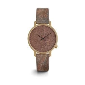 Dámske hnedé hodinky s koženým remienkom Komono Harlow