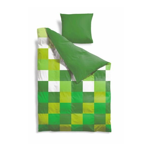 Predĺžené obliečky Green Pixel, 140x220 cm