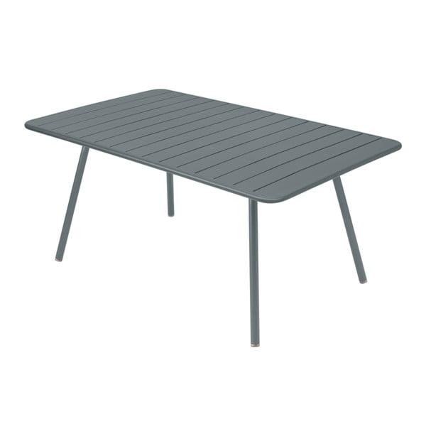 Tmavosivý kovový jedálenský stôl Fermob Luxembourg