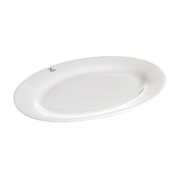 Porcelánový servírovací podnos Galzone Bianco, 21,5x30cm