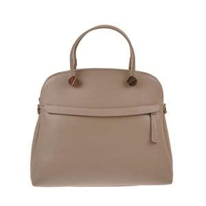 Béžová kožená kabelka Florence Bags Yutz