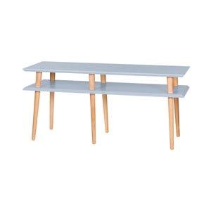 Svetlosivý konferenčný stolík Ragaba Mugo,dĺžka119 cm