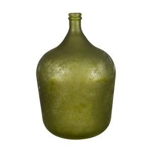Zelená sklenená váza Côté Table Chai