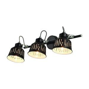 Čierna nástenná lampa 2 žiarovky Lamkur Jack