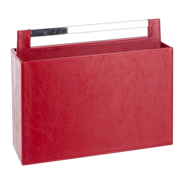 Koženkový stojan na magazíny Red