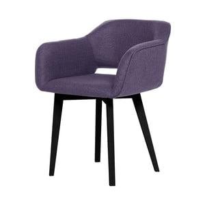 Fialová jedálenská stolička s čiernymi nohami My Pop Design Oldenburg
