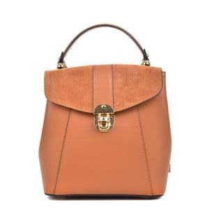 Koňakovohnedý kožený batoh Isabella Rhea Carmit