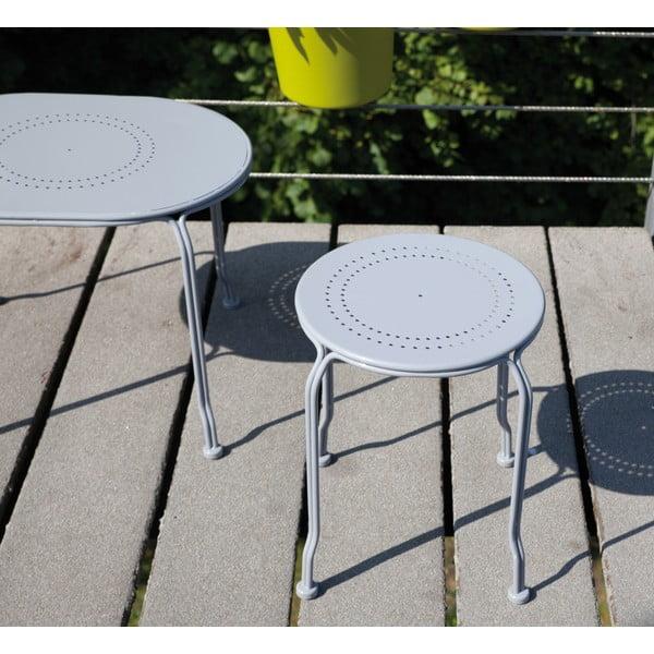 Sivý stolík na balkón Esschert Design Nature