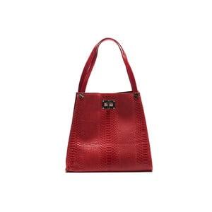 Kožená kabelka Anna Luchini 8038 Rosso