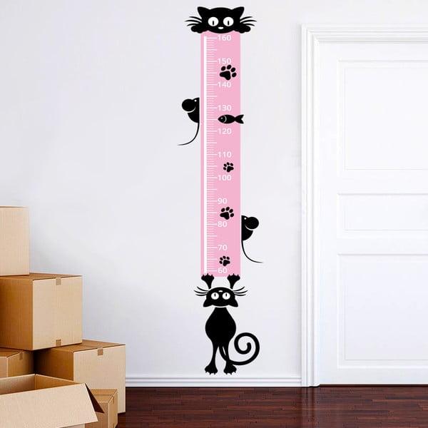 Samolepkový meter na stenu Mačičky, 160 cm