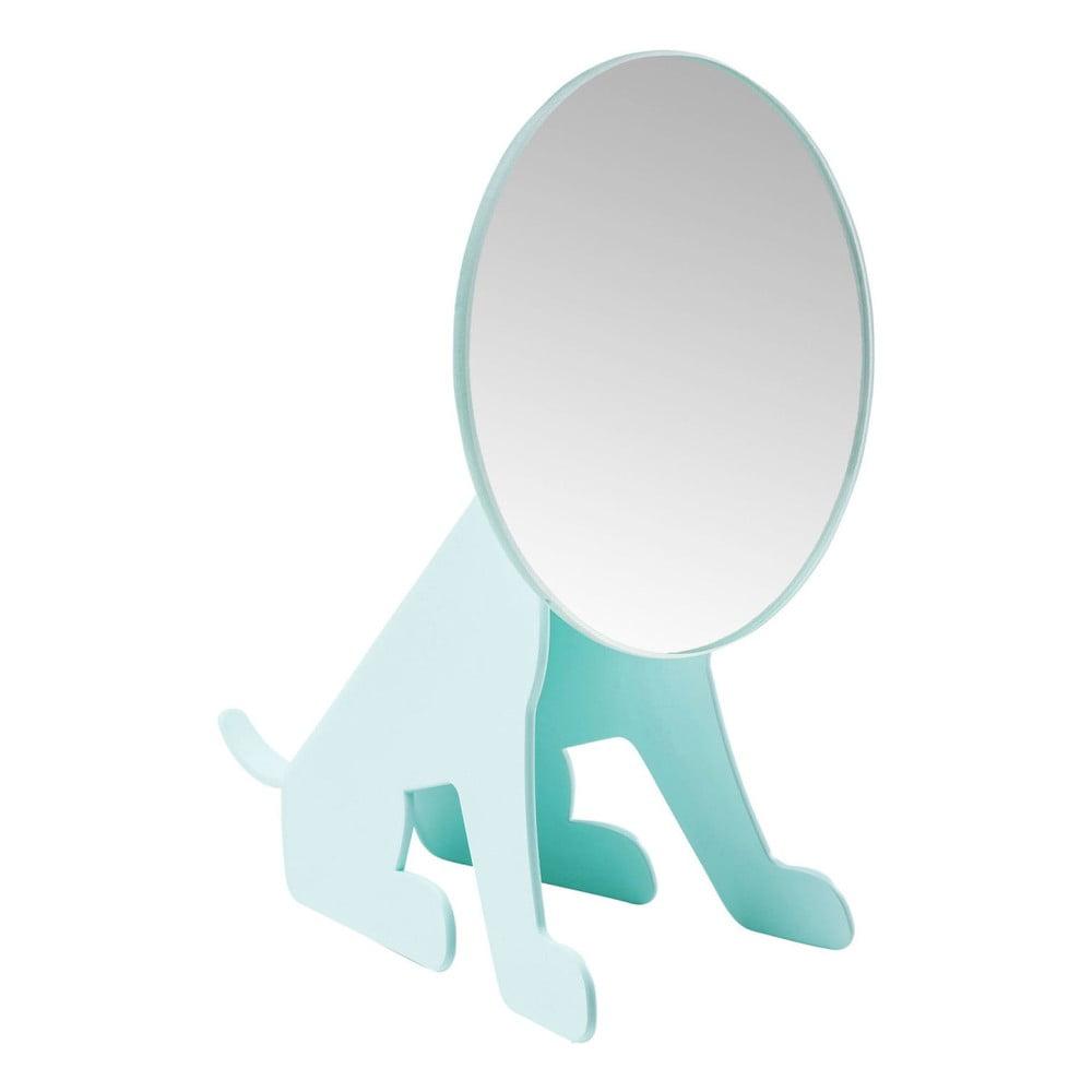 Mentolovomodré stolové zrkadlo Kare Design Dog