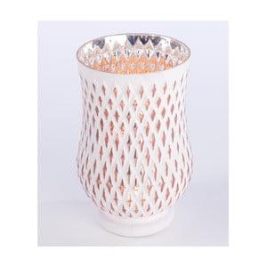 Svietnik Glass Candle 23 cm, biely