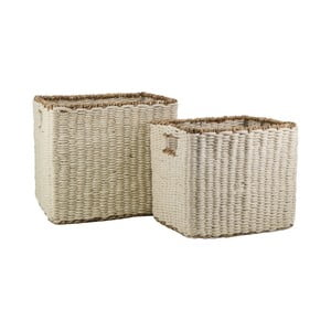 Sada 2 úložných košíkov z juty a morskej trávy Moycor Natura