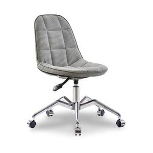 Sivá stolička na kolieskach Modern Chair Grey
