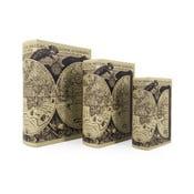 Sada 3 boxov v tvare knihy Moycor Astronomicarum