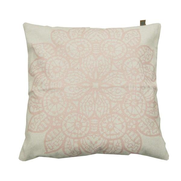 Vankúš Overseas Lace White/Blush, 45x45 cm