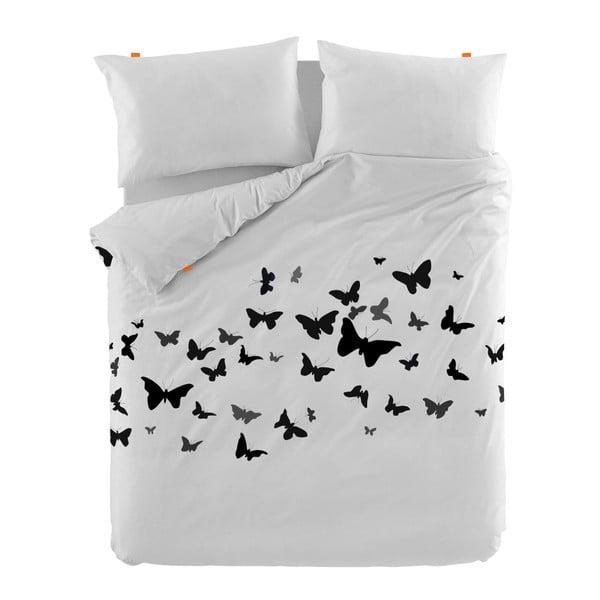 Bavlnená obliečka na perinu Blanc Butterflies, 140×200 cm