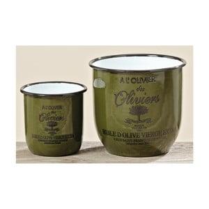 Sada 2 kvetináčov Olive Green