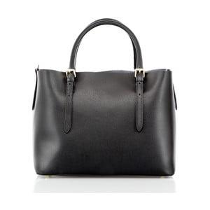 Čierna kožená kabelka Glorious Black Mary