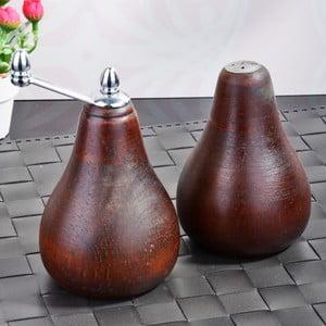 Sada hnedých bambusových mlynčekov na soľ a korenie Pear