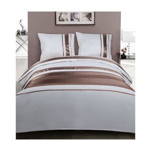 Obliečky White Brown Stripes, 240x200 cm